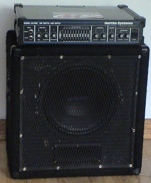 "12"" cab With the Hartke amp"